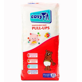 Baby Pull Ups - Xtra Large <br>32 Pieces/Pack