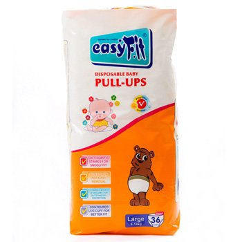 Baby Pull Ups - Large 36 Pieces/Pack