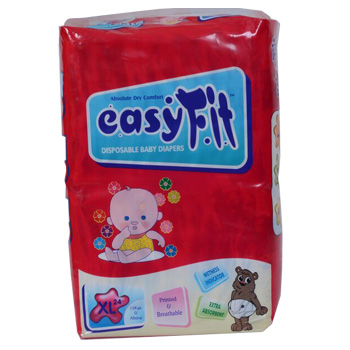 Baby Diaper - Xtra Large <br>24 Pieces/Pack