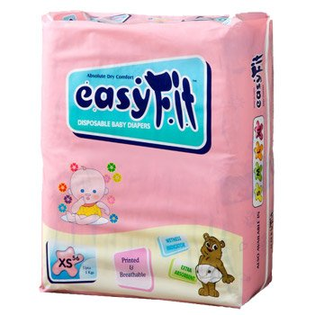 Baby Diaper - Xtra Small <br>56 Pieces/Pack